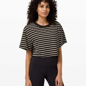 Lululemon All Yours Crop Tee size 12